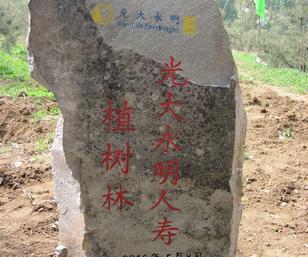 光大永明人寿北京植树林纪念碑