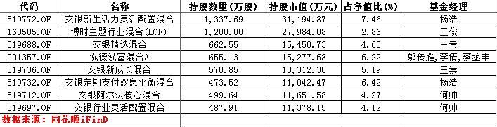 持有视觉中国股票市值超过1亿的基金