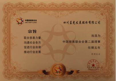 蓝光发展当选中慈联第二届理事成员