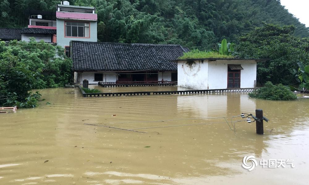 大暴雨来袭!广西柳州民房被淹内涝严重