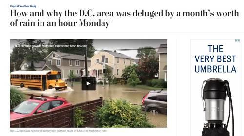 特朗普漂浮水中:大洪水突袭华盛顿,白宫被淹,地铁惨变淋浴间