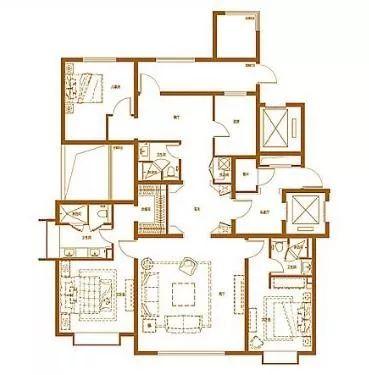 171�O3室2厅2卫户型图