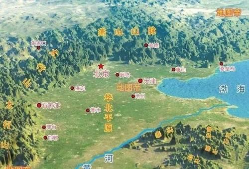 这是华北平原地形地貌的示意图。