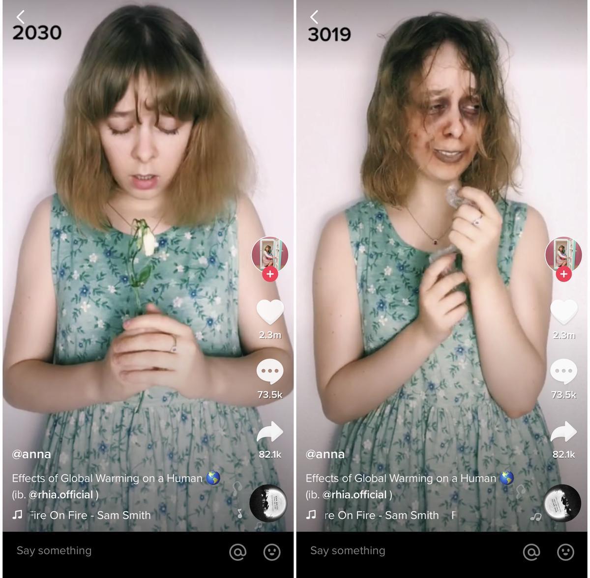 英国姑娘用TikTok拍下全球变暖后果,吓坏网友,却让BBC点赞