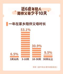 报告: 6成在都市奋斗的年轻人一年陪伴父母少于10天