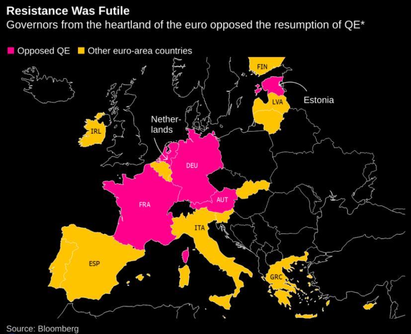 欧洲央行内部分歧公开化多位央行行长不满德拉基QE决定