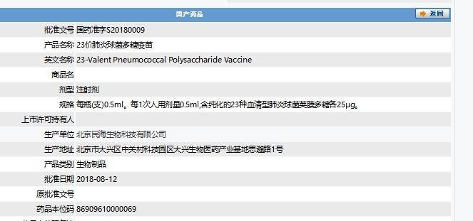 目前,仍有多家公司的23价肺炎球菌多糖疫苗项目在研发或建设阶段。