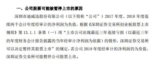 A档案|迪威迅4850万转让应收账款遭问询,是否为避免连续三年亏损暂停上市?