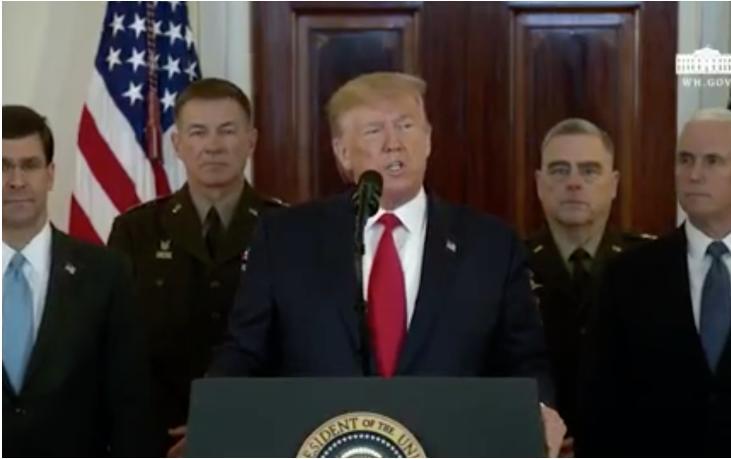 特朗普相等钟说话回答伊朗导弹进攻,开释4个信号丨政解