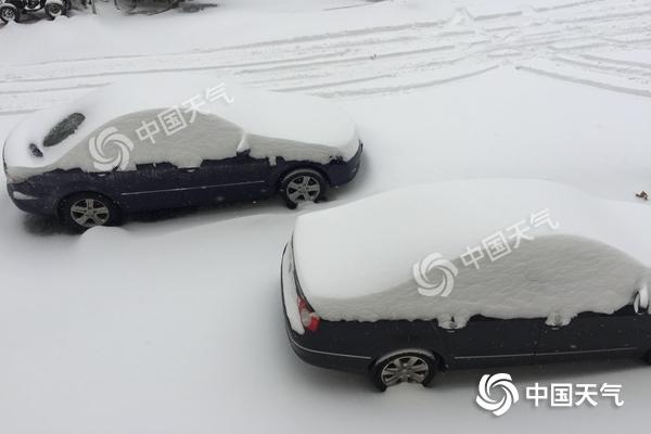 辽宁今日强降雪持续 本溪丹东等地暴雪橙色预警中