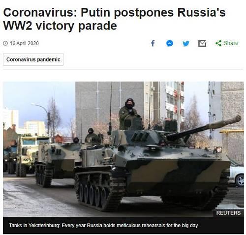 俄媒称,这是25年来,俄首次在胜利日异国举走红场阅兵式等运动。