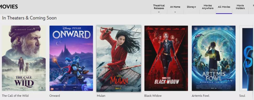 而这几部电影都是迪斯尼斥巨资拍摄的。如《花木兰》预算为2亿美元。