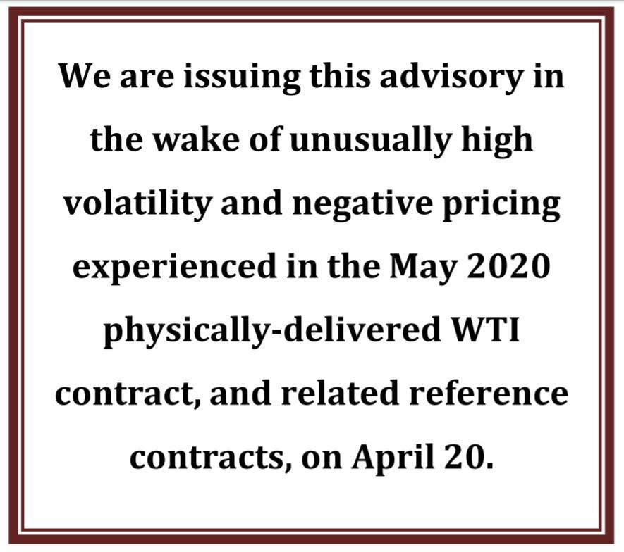 CFTC警告:6天后,负油价能够表现