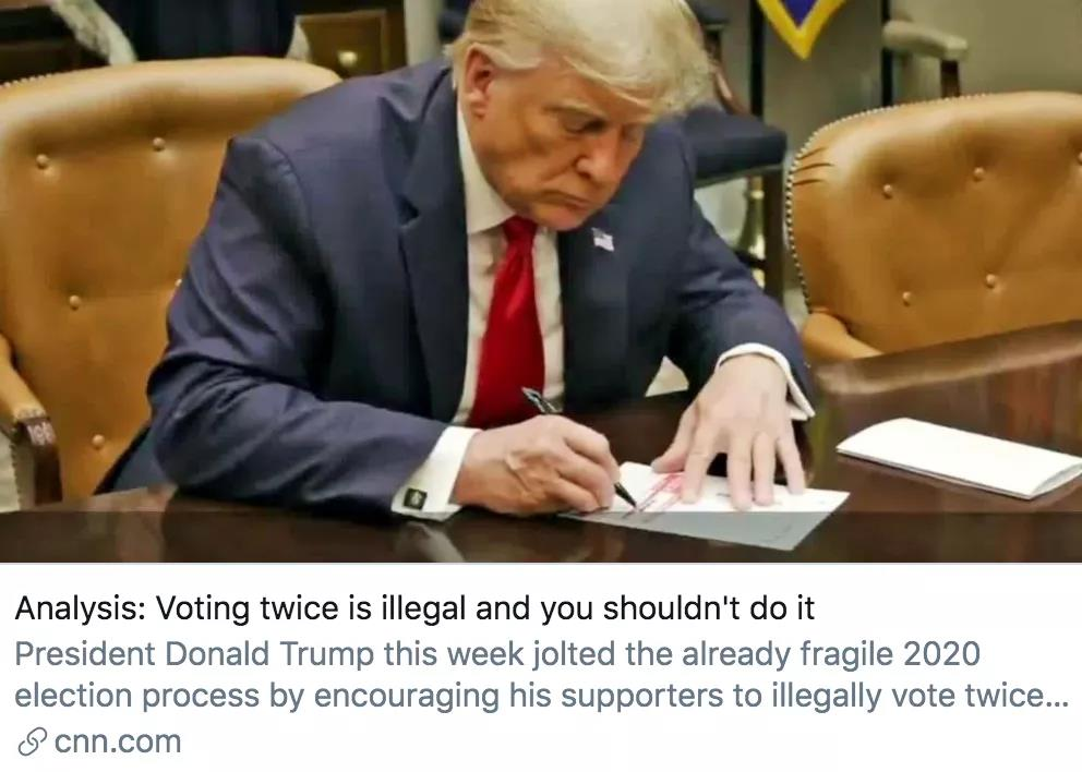 针对大选投票方式,特朗普又想出了个新法子
