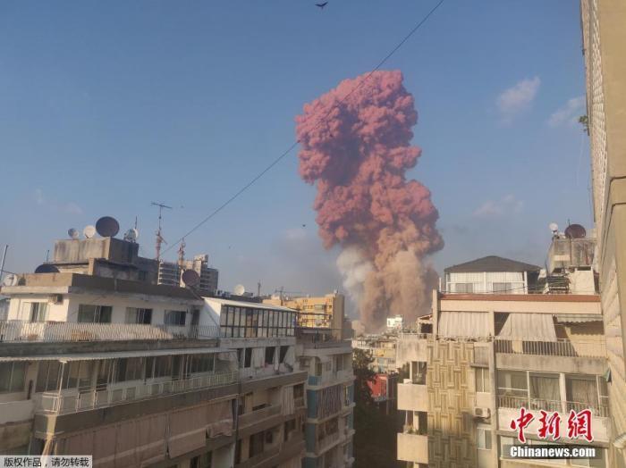 大爆炸一月后黎巴嫩贝鲁特港口突发大火 引发居民恐慌