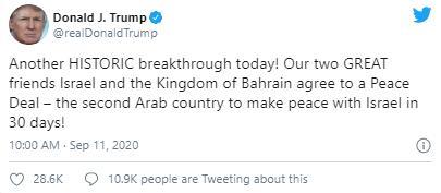"""又一历史性突破!特朗普宣布巴以达成和平协议 美元""""涨""""声欢迎、黄金飞流直下"""