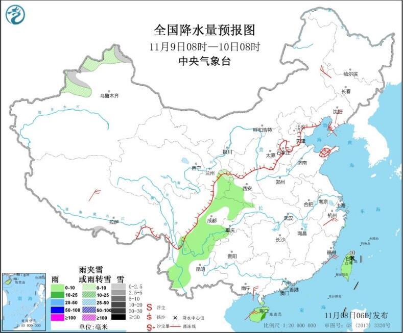 冷空气继续影响东北华东 黑龙江吉林等地有小到中雪
