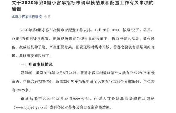 usdt充值(caibao.it):停止2020年12月8日24时 北京新能源车指标申请人数跨越48万 第1张