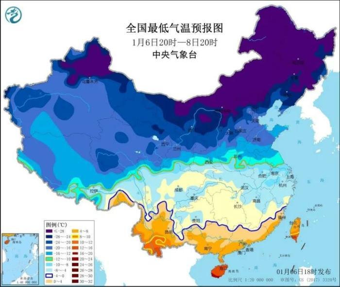 寒潮预警继续发布 中国气象局启动四级应急响应