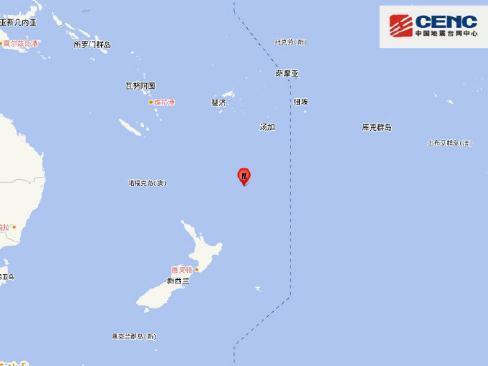 新西兰附近海域发生6.1级地震 震源深度200千米