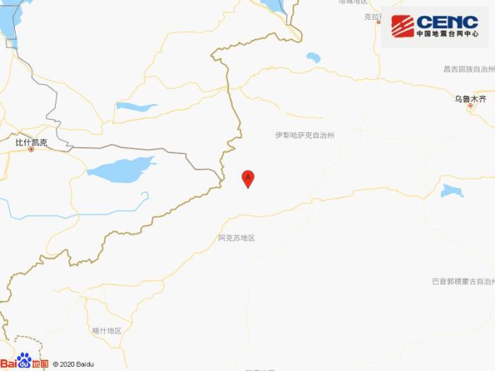 新疆阿克苏地区拜城县附近发生4.3级左右地震