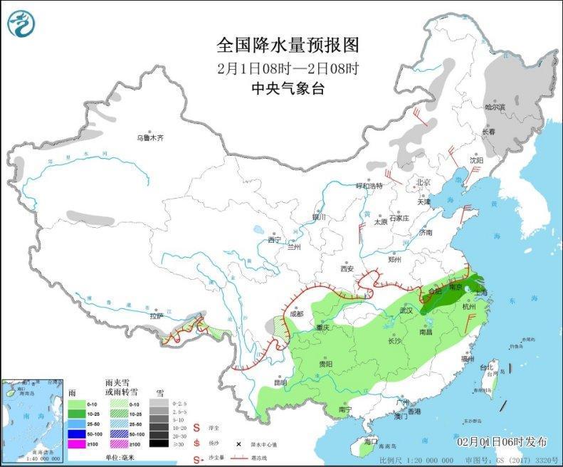 较强冷空气影响中东部地区 局地降温达10-15℃