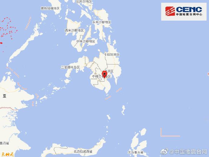 菲律宾棉兰老岛发生5.9级地震 震源深度10千米
