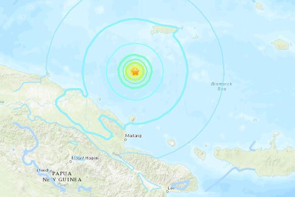 俾斯麦海发生6.3级地震 震源深度10千米