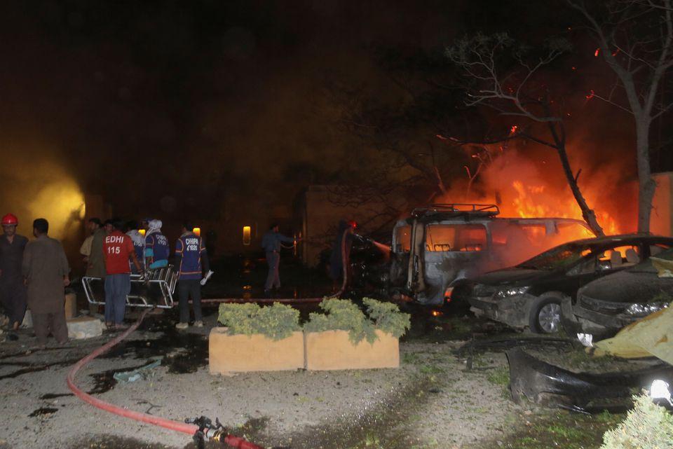 巴基斯坦酒店爆炸案中方使馆人员全体安全 巴官员承认这次重大安全漏洞