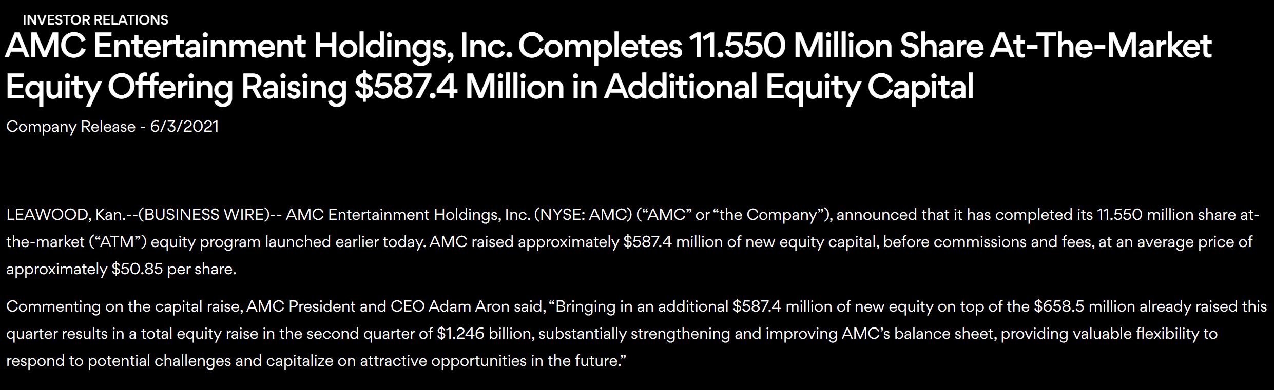 傲立炒作风口AMC院线再度完成大额股票出售 本季度已狂揽12亿美元
