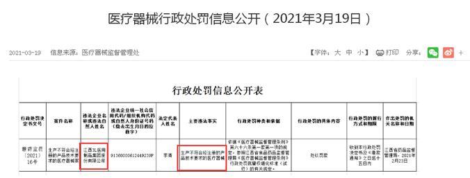 江西3L医用制品再现不合格产品 曾因产品质量等问题IPO被否