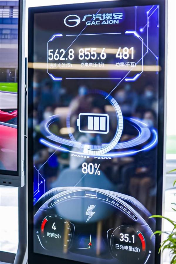 广汽埃安展示超级快充技术:速度堪比加油 率先搭载在AION V上