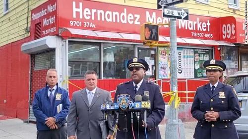 CNN:纽约两连帽衫戴口罩男满大街开枪10人中招 警方报警电话被打爆