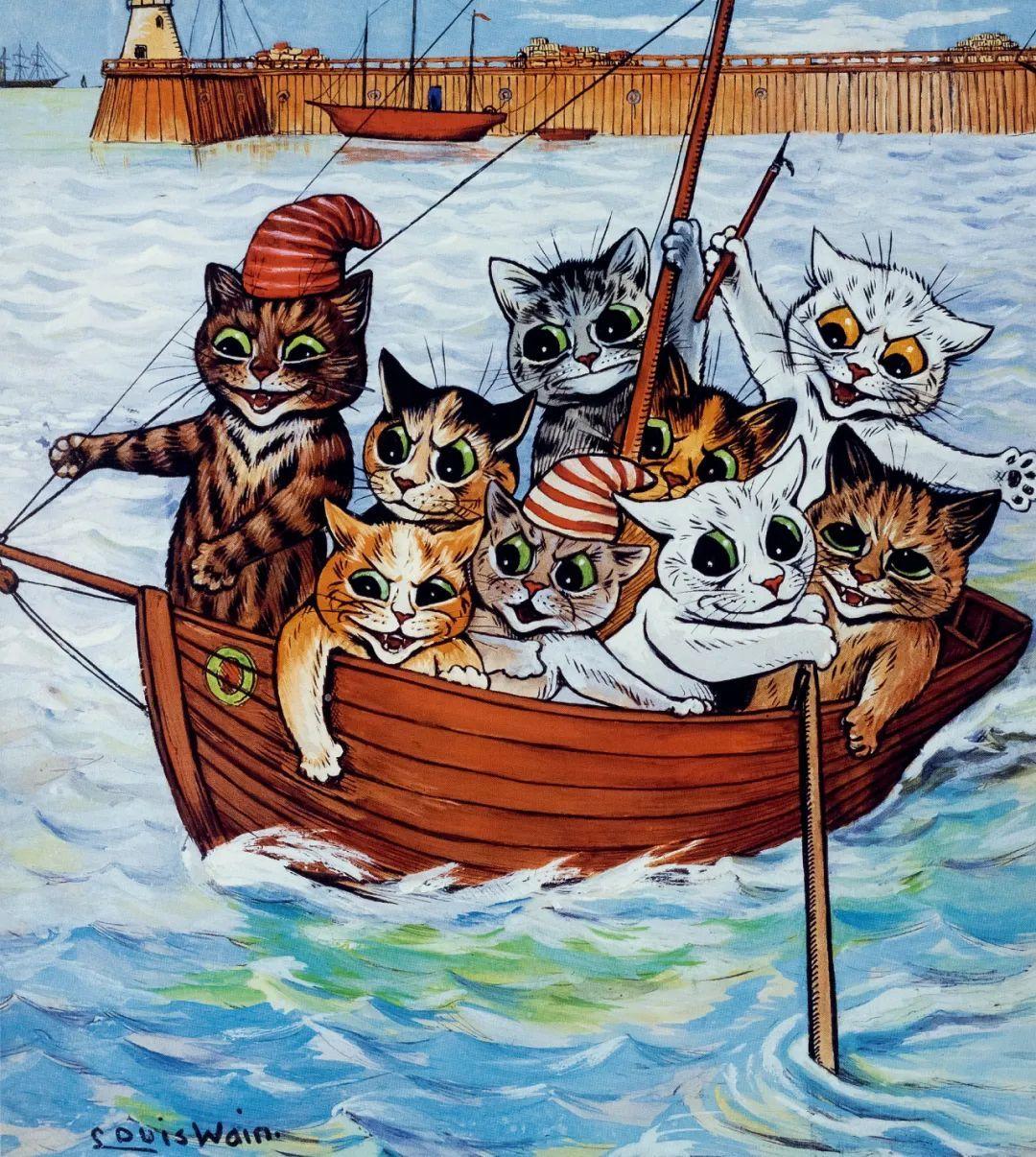 国际爱猫日?来聊聊一位因为猫而疯掉的画家!