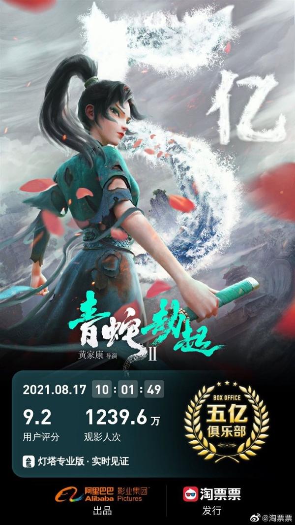国产CG 3D动画电影视效巅峰:《白蛇2:青蛇劫起》票房突破5亿